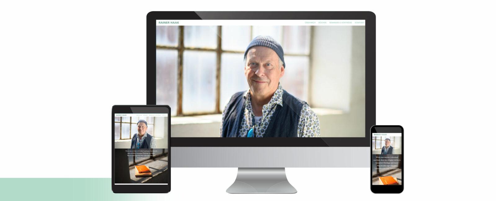 Gesamtansicht Rainer Haak Webseite