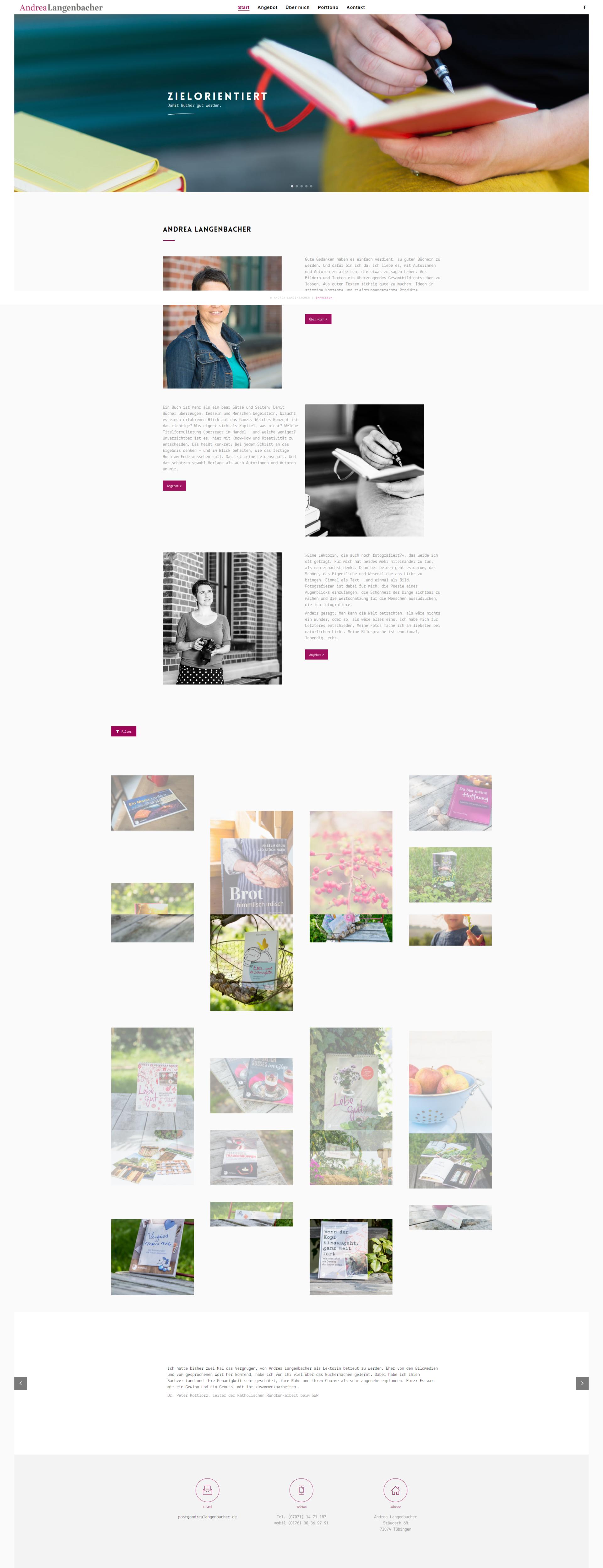 Webseite Andrea Langenbacher